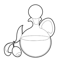 Olive oil icon outline style vector image