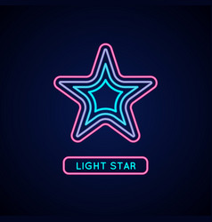 Star in neon style suitable vector