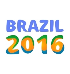 Brazil 2016 games poster vector image vector image