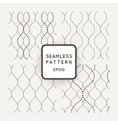 Set of seamless patterns point of wavy vector image vector image
