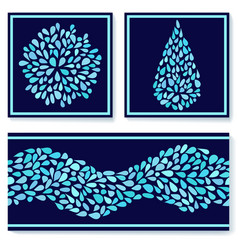 small water drops vector image vector image