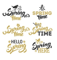 Spring overlays vector image vector image