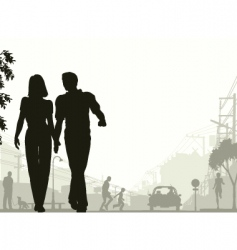 street stroll vector image vector image