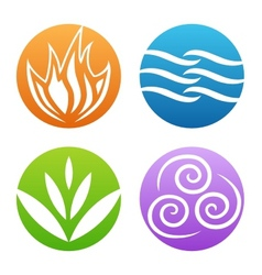 symbols of four elements vector image vector image