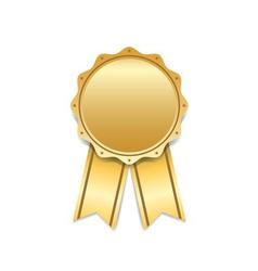Award ribbon gold icon white vector image vector image