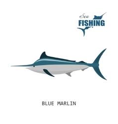 Blue marlin Sea fishing vector image