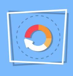 circle arrow diagram icon reload web button vector image
