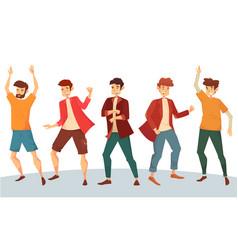 dancing man or boy dancer at disco party vector image vector image
