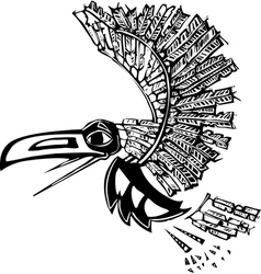Flying Raven vector image vector image