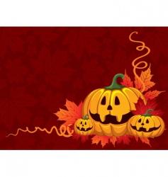 Halloween pumpkin vector image vector image