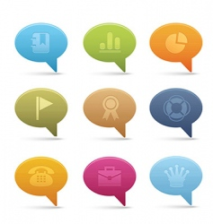 office icons bubble vector image vector image