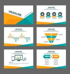 Orange green presentation templates Infographic vector image vector image