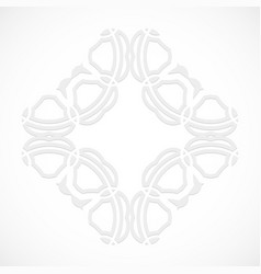Round modern white pattern simulated by a laser vector