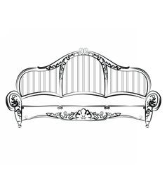 Royal elegant sofa with classic ornaments vector