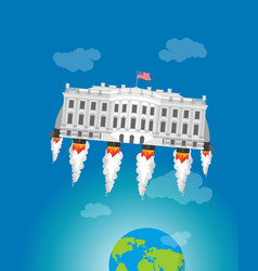 white house in space usa president residence vector image vector image