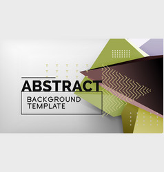 3d triangle geometric background design modern vector image