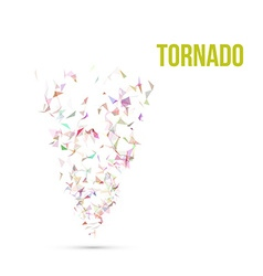 Absract colorful Polygonal Tornado vector image