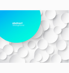 abstract 3d circle background with shadow and vector image