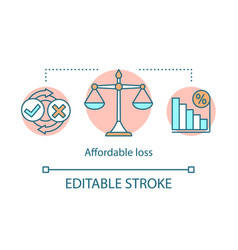 Affordable loss concept icon vector