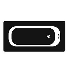 air view bathtube icon simple style vector image