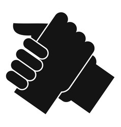 Arm wrestling partner icon simple style vector