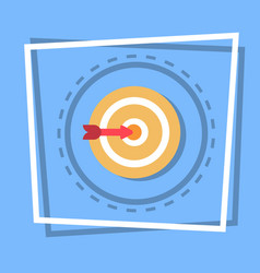 arrow in target icon goal web button vector image