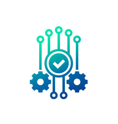 Automation and optimization icon vector