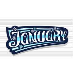 Banner for january vector