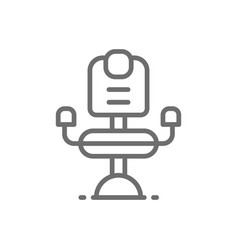 Barber chair hairdresser line icon vector
