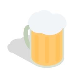 Beer mug icon isometric 3d style vector image