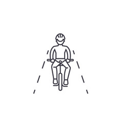 bike ride line icon sign on vector image