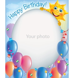 Birthday frames for photos 2 vector image