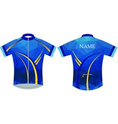 Blue diamond cycling jersey half sleeve vector