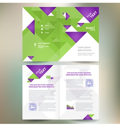 booklet catalog brochure folder geometric triangle vector image