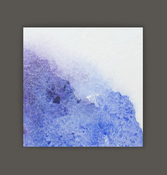 Brush painted blue watercolor background vector