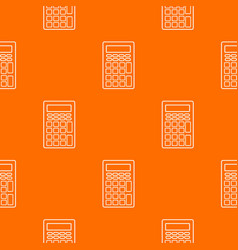 calculator pattern orange vector image