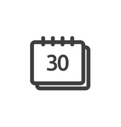 calendar icon graphic design template vector image