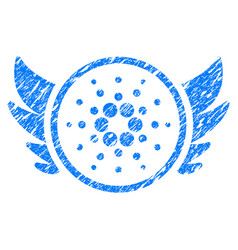 Cardano angel investment icon grunge watermark vector