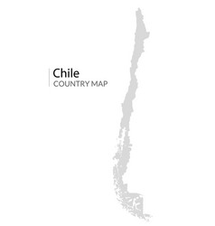 Chile map country chilean republic icon vector