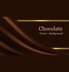Chocolate wave background dark brown creamy vector