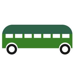 city bus simple art geometric vector image