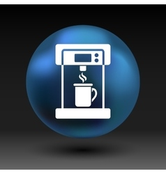 Coffee maker monochrome icon electric cafe kitchen vector image