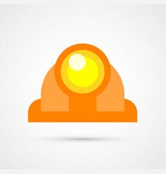 colored construction helmet trendy symbol vector image
