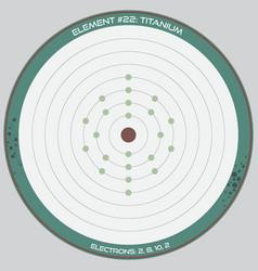 Detailed infographic titanium vector