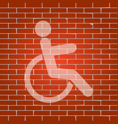 disabled sign whitish icon vector image