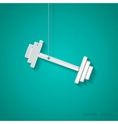 dumbbell icon Eps10 vector image