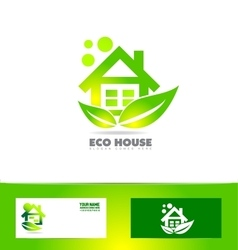 Eco ecological house real estate logo vector