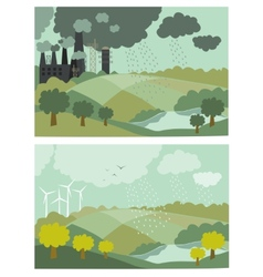 Ecology Concept for vector image