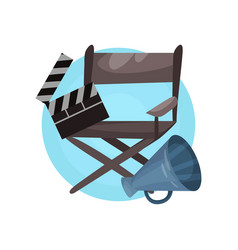 Film director profession icon cinema industry vector