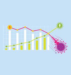 Financial stock market falling graphs vector